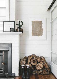 Un tas de bois pour un style cottage anglais
