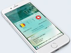 iOS 10 Soccer Widget by Ramotion #Design Popular #Dribbble #shots