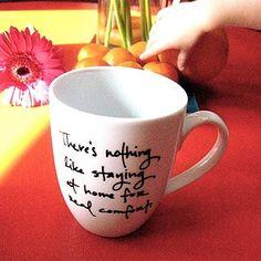"Mug - Jane Austen - ""Nothing Like Home"" Jane Austen Online Giftshop"