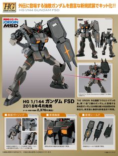 HG GTO 1/144 GUNDAM FSD: JUST UPDATED… NEW Official Images, Info Release | GUNJAP