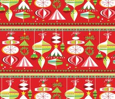 Spoonflower Fabric of the week voting: Ornament gift wrap