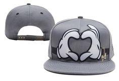 Disney Mickey And Minnie Mouse Snapback Gray