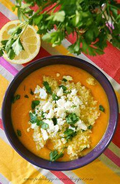 Zupa marchewkowa z kuskusem i fetą Thai Red Curry, Feta, Ethnic Recipes