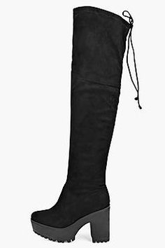 Rebecca Over The Knee Cleated Boot