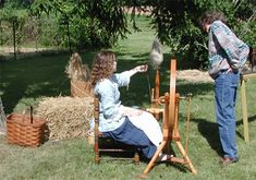 WV blog about flax and wool spinning