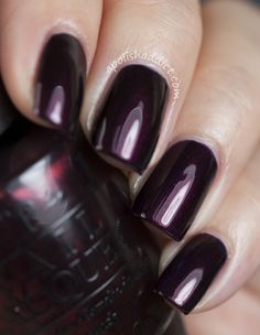 """Love the richness of OPI's """"Every Month is Oktoberfest"""".  Perfect to pair with a chic winter outfit!"""