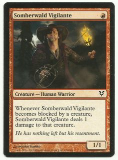 Somberwald Vigilante x1 MTG Avacyn Restored Red Human Creature Magic Card AR EDH #WizardsoftheCoast