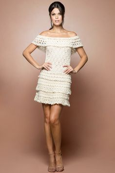Vestido Crochet Martini Off - Vanessa Montoro - vanessamontoro