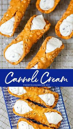 Making fresh homemade cannoli cream is easier than you think. You'll be filling . Making fresh homemade cannoli cream is easier than you think. You'll be filling shells in no time with my How Unique Desserts, Italian Desserts, Fun Desserts, Delicious Desserts, Individual Desserts, Italian Foods, Italian Cookies, Easy Cookie Recipes, Best Dessert Recipes