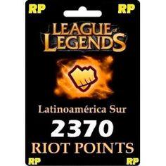Pack de 2370 Riot Points para comprar en Argentina por Rapipago / Pagofacil.