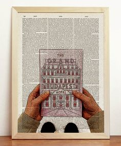 The Grand Hotel Budapest Print Wes Anderson Movie by cholulo