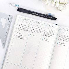 This is how my future log looks like. ✨ I like the minimal look and one of my goals this year is to simplify my bujo (it's more of a test though)