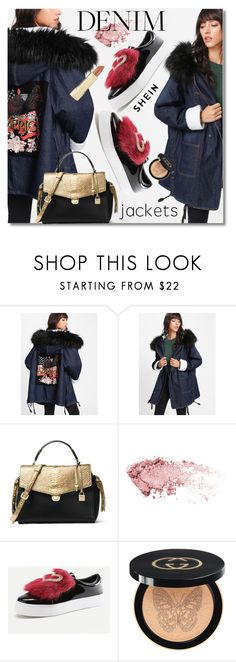 """""""Denim jacket"""" by svijetlana ❤ liked on Polyvore featuring MICHAEL Michael Kors, Gucci, Axiology, denimjacket and shein"""