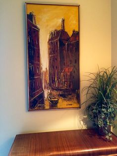 Stunning Mid Century Modern Abstract Painting by OffCenterModern