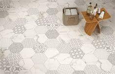 Znalezione obrazy dla zapytania glazura kuchnia płytki heksagonalne białe