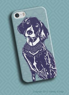 German Shorthaired Pointer Phone Case | Custom Phone Case | Custom iPod Case | Available in 8 Color Combinations