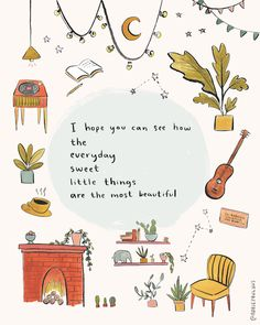life quotes & We choose the most beautiful I Hope You Can See How Art Print - gratitude appreciation little things illustration for you.Sometimes routine is the greatest gift. most beautiful quotes ideas