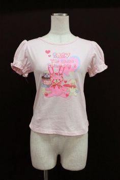 If Kume BABY, THE STARS SHINE BRIGHT / Usa print puff sleeve T-shirt (Baby the Stars Shine Bright) 2,200 yen
