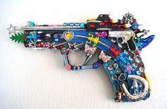 Robert Bradford - Recycled Toy Sculptures.