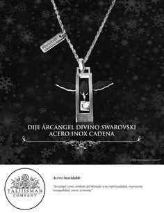 b2054c96cf6 DIJE ARCANGEL DIVINO SWAROV ACERO INOX CADENA TALIIISMAN COMPANY®  ¡Contáctanos! 01800 2867967 www.facebook.com taliiisman info taliiisman.com