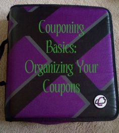 How to Organize your coupons!