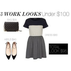 3 Work Looks Under $100 economically friendly 1st day outfit