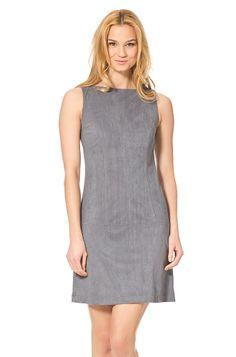 Kleid in Wildleder-Optik, Grau - ORSAY Online Shop - feminine Mode und Accessoires für anspruchsvolle Frauen!
