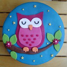 Fashion and Lifestyle Owl Themed Parties, Owl Birthday Parties, Fondant Figures, Fondant Cakes, Cupcake Cakes, Fruit Cakes, Owl Cake Birthday, Owl Cupcakes, Bird Cakes