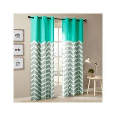 Intelligent Design Alex Chevron Printed Grommet Top Panel Pair ($36) ❤ liked on Polyvore featuring home, home decor, window treatments, curtains, aqua, grommet curtains, chevron pattern curtains, grommet panels, aqua blue curtains and aqua chevron curtains