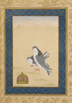 A Moghul masterpiece in the collection of the British Library, the Dara Shikoh album is a manuscript collection of paintings and calligraphy assembled during the 1630s by Dara Shikoh (1615–1659), the eldest son of the Emperor Shah Jahan (1628–1658, the builder of the Taj Mahal), and presented to his wife Nadira Banu Begum in 1641 or 1642.  Following the typical Moghul album format, the facing pages alternate in pairs: two pages of paintings, then two of calligraphy. Each artwork is mounted…