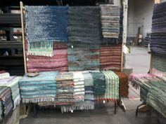 Woven rugs by Patty Martinson