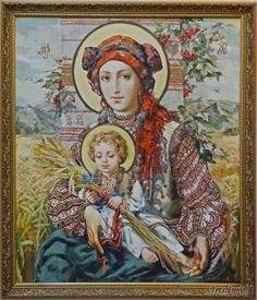 Alexander Ohapkin, Maica Domnului cu Pruncul (Si va avea un fiu. Blessed Mother Mary, Blessed Virgin Mary, Religious Paintings, Religious Art, Jesus And Mary Pictures, Hail Holy Queen, Queen Of Heaven, Jesus Art, Ukrainian Art