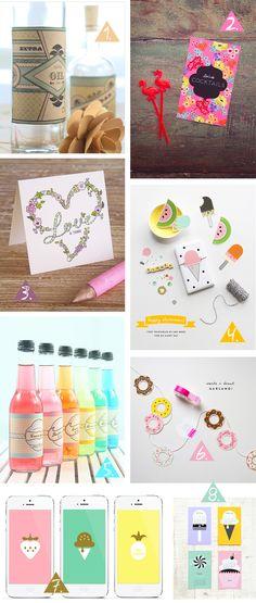 Una selección de los imprimibles gratis de la diseñadora gráfica Amy Moss, los más bonitistas del lugar.