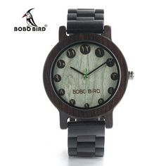 BOBO BIRD Luxury Designer Watches Men Style Wooden Watch Wood Strap Wristwatch with Paper Gift Box relogio masculino Brand Top