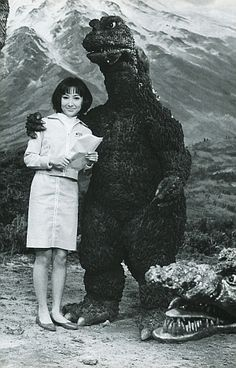 Godzilla engagement announcement picture.
