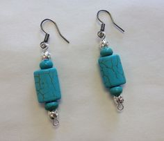 Antique Style Turquoise Earrings Teal Country by StarBoundWestern Westerns, Western Jewelry, Unique Jewelry, Turquoise Earrings, Dangles, Teal, Drop Earrings, Vintage, Country