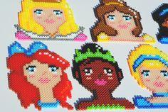 Custom Disney Princess coaster / wall art set by pop that cassette