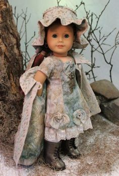 MHD-Designs-Foret-De-Minuit-a-One-Of-A-Kind-Ensemble-for-American-Girl-Dolls, pattern proof ensemble, ends 11/12/14 Current Bid $250.00
