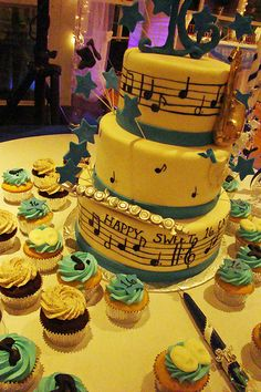 Sweet 16 Music Cake photo by tineypics from Flickr at Lurvely