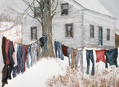 Winter Clothesline by Christine Henehan