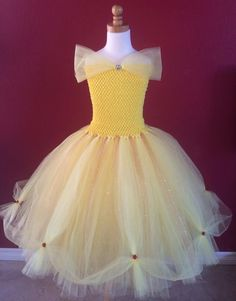 Belle tutu dress by SimiPrincessBoutique on Etsy