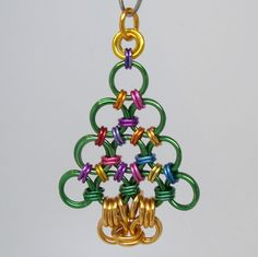 SALE Chainmaille Christmas Tree Pendant Chain Mail. $9.00, via Etsy.