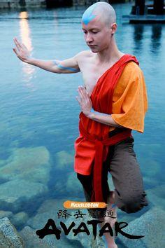 Twinfools Avatar Aang cosplay