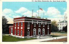 Thomasville Georgia 1914 Post Office Thomas County Court House Vintage Postcard