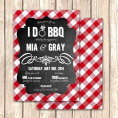 I Do BBQ Bridal Shower InvitationRehearsal Dinner by VivaLaLovely, $1.75