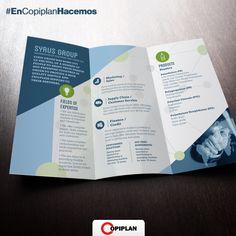 #EnCopiplanHacemos dípticos, trípticos o cualquier material gráfico que se te ocurra para tu empresa. Tan simple como entrar en http://copiplan.com.uy/ y enviarnos tu diseño