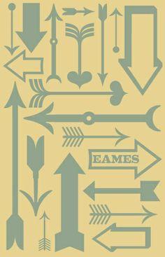 More Arrows, Directions, Symbols, Motifs