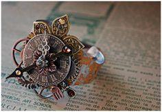 Steampunk Bracelet  Steampunk Jewelry  Cuff by AngelaVenArtwork