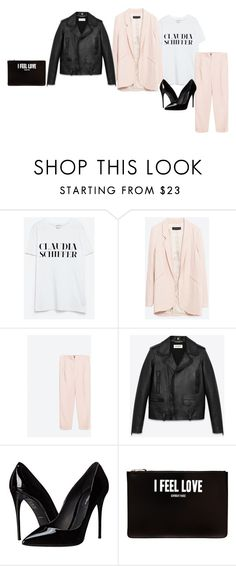 """Sin título #1326"" by paulalopezmtz ❤ liked on Polyvore featuring Zara, Yves Saint Laurent, Dolce&Gabbana and Givenchy"