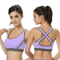 Cropped Women Crop Top Cropped Padded Bra Tank Top Athletic Vest Gym Fitness Sports Stretch Women's Tanks